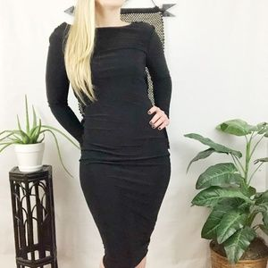 NWT ASOS black jersey midi dress 4